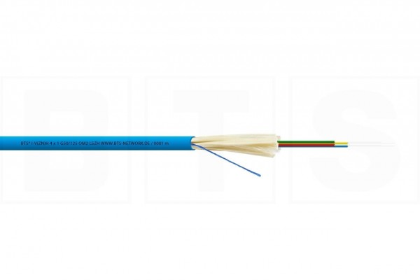 LWL Mini-Breakoutkabel 16x1 G50/125µm I-V(ZN)H, OM2, 1000N