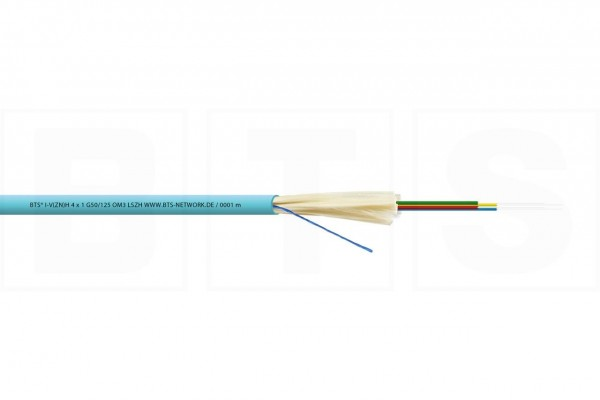 LWL Mini-Breakoutkabel 8x1 G50/125µm I-V(ZN)H, OM3, 850N