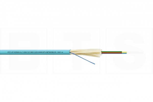 LWL Mini-Breakoutkabel 12x1 G50/125µm AT-V(ZN)H, OM3, 1000N