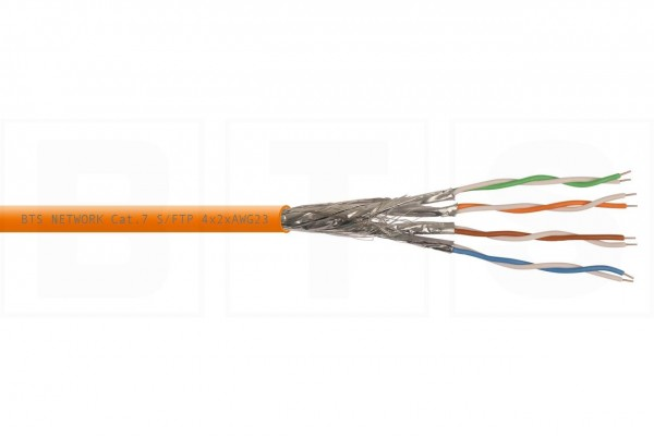 Kupfer Installationskabel S/FTP Cat. 7 1200 MHz, 4x2xAWG23, Dca, 250m Pullout-Box